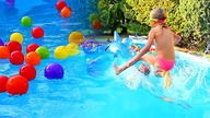 Swimming pool for kids, Fun kids with balls , Colors learning | CzyWieszJak