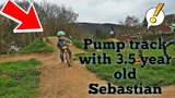 Dirtpark with 3. 5 year old Sebastian  MTB