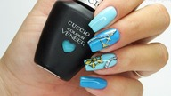 Sea nails art Tutorial step by step / Star Nail Cuccio #seanailsart #bluenailsart