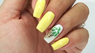 Easy Pineapple nails art Tutorial / Bluesky #yellownails #pineapplenailsart
