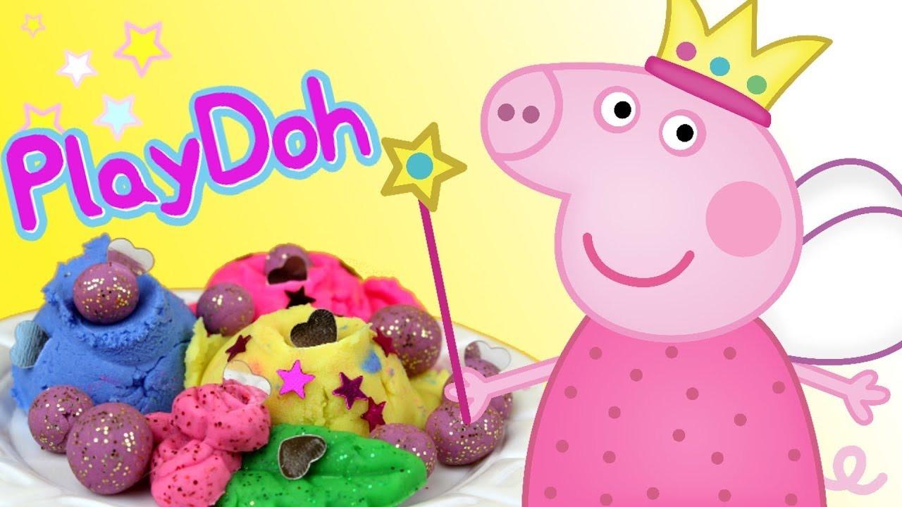 Play Doh świnka Peppa Kuchnia I Naleśniki Bajki Dla Dzieci