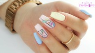 Colorful pastel & neon leaves nails art tutorial / Gabrielle Nails