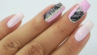 Princess nails art Tutorial / Bluesky #pinknailsart #princessnails