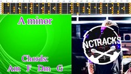 Light Soft Simple Classic Rock Style Guitar Backing Track - A minor | 130bpm [NCTracks Release]